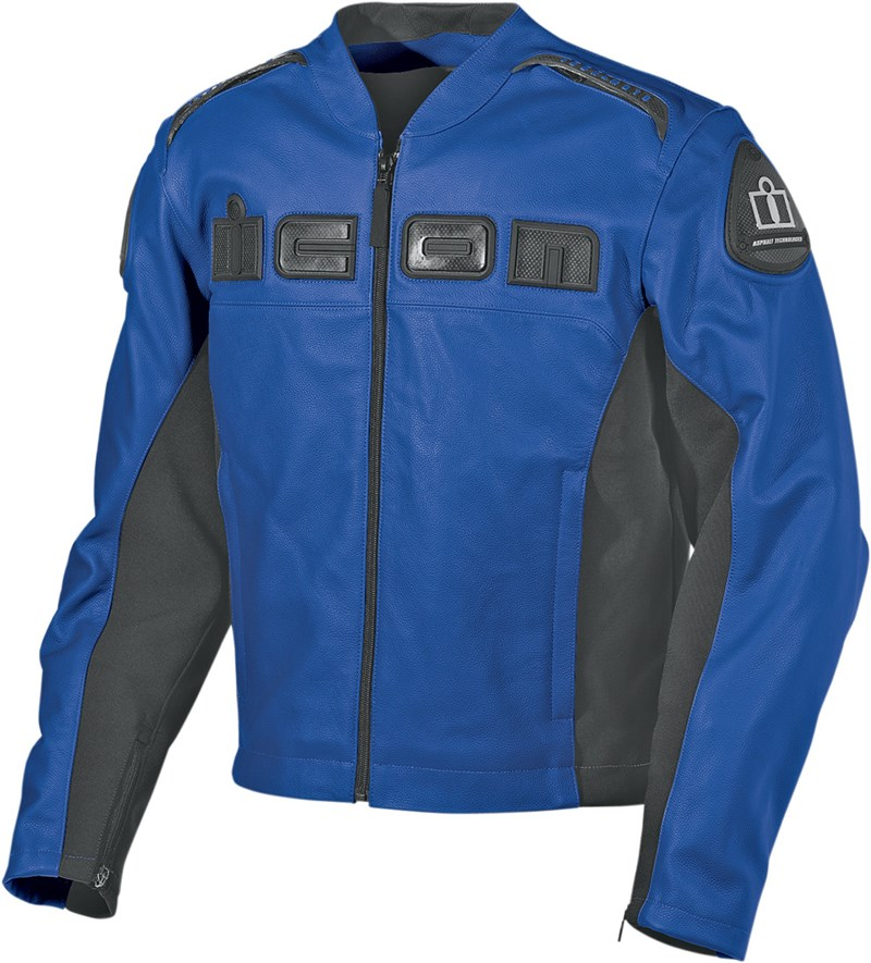 icon hyper sport prime hero leather jacket motorcycle blue size large see more like this Icon Contra Womans Motorcycle jacket size M *Excellent Condition!! Pre-Owned.