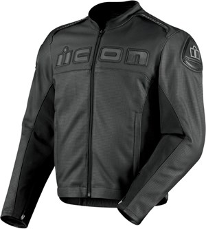 Icon Accelerant Perferated Leather Jacket - Black