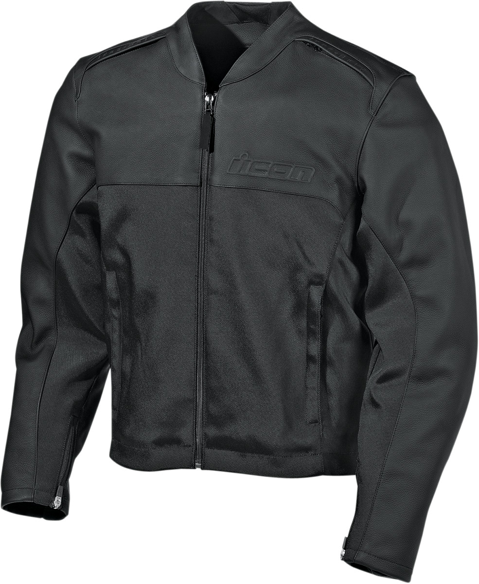 Icon Accelerant Stealth Leather Jacket Black