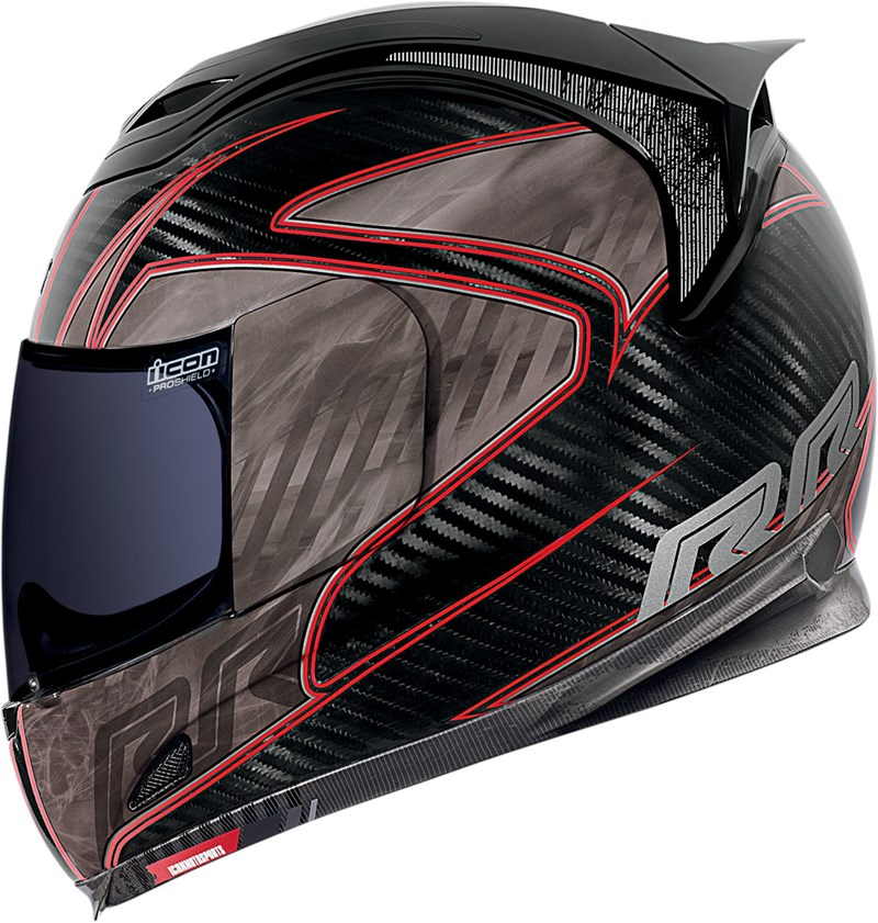 Icon Airframe Carbon Fiber RR Full Face Motorcycle Helmet - Red