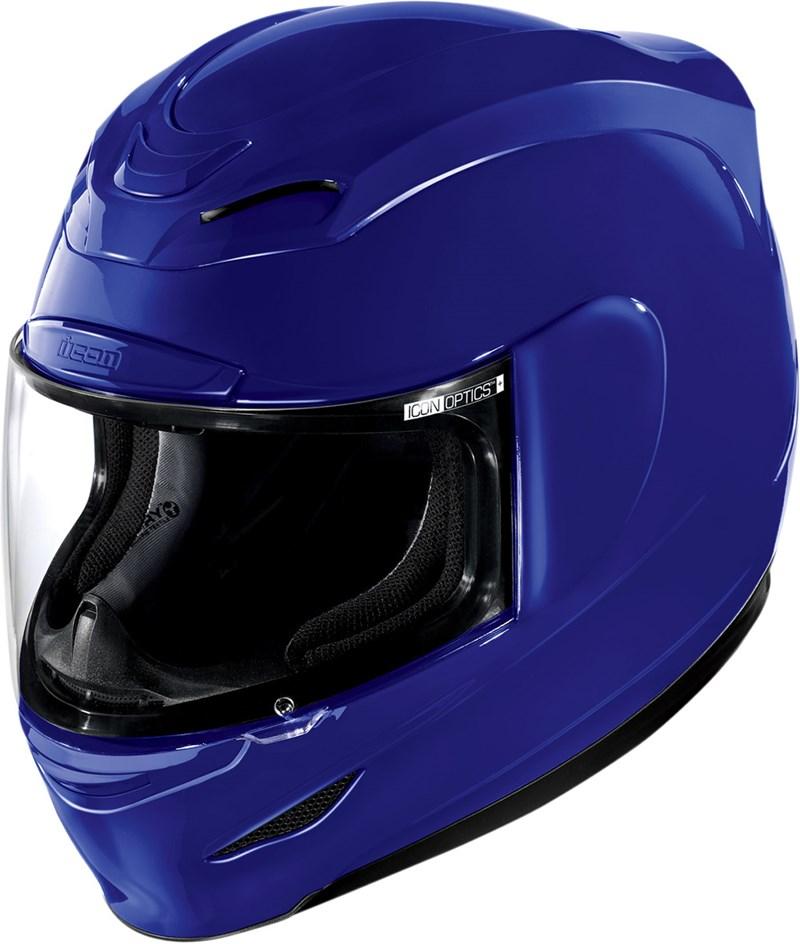 icon airmada full face helmet blue