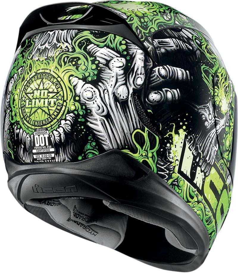 Icon Airmada Jason Britton Full Face Motorcycle Helmet