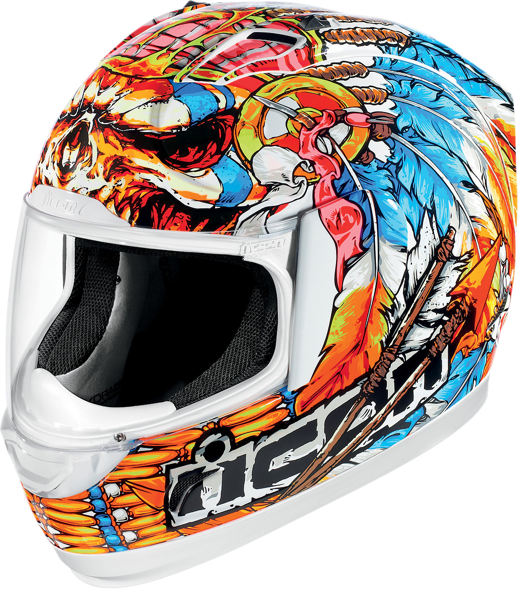Icon Alliance Chieftan Full Face Motorcycle Helmet White