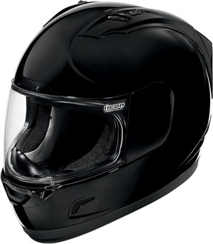 Icon Alliance Full Face Helmet - Black Gloss