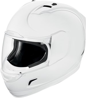Icon Alliance Full Face Motorcycle Helmet - White Gloss