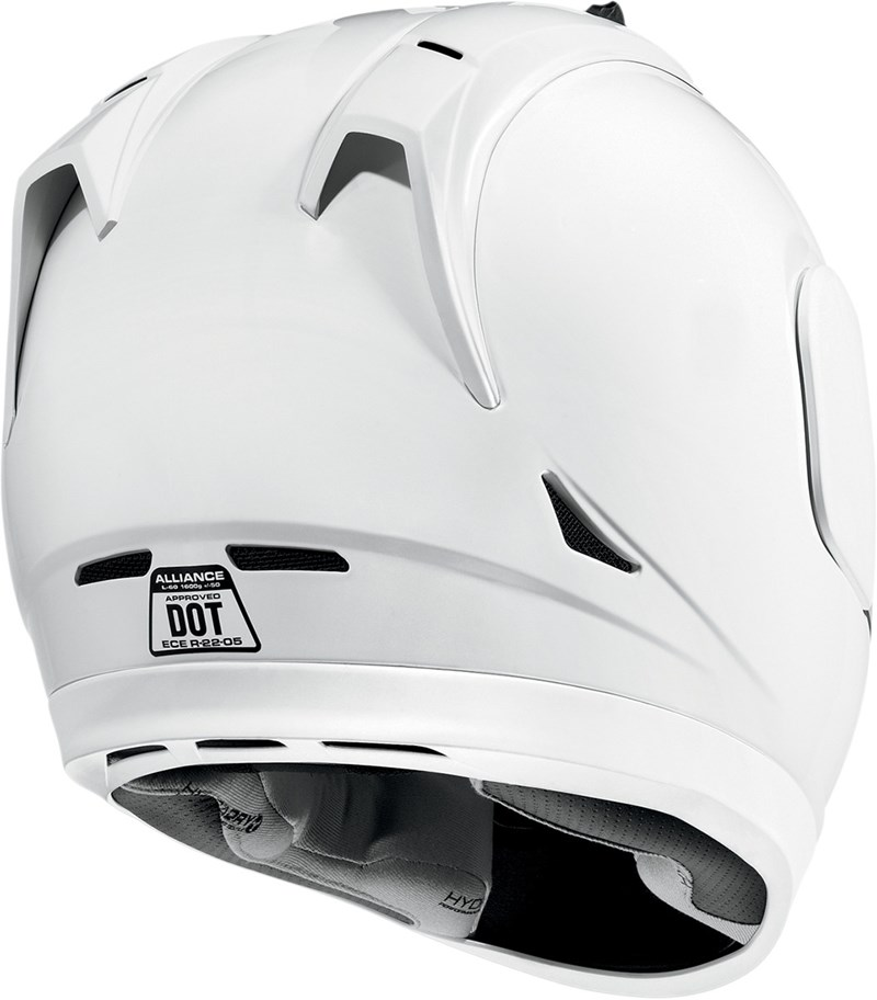 Safety Face Shield >> Icon Alliance Full Face Motorcycle Helmet - White Gloss