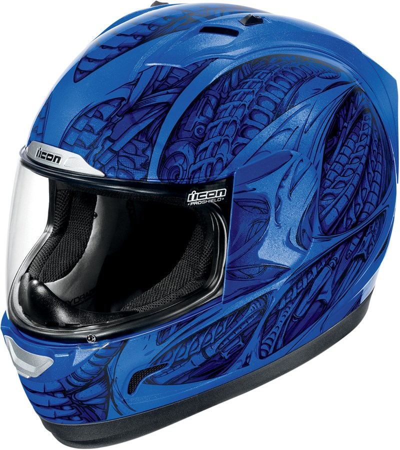 Full Motorcycle Helmet >> Icon Alliance Speedmetal Full Face Helmet - Blue