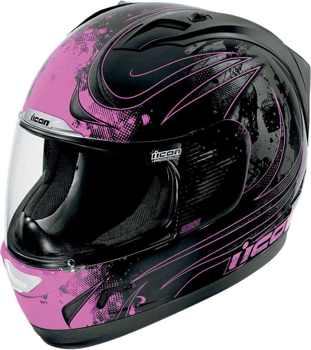 Icon Alliance Threshold Full Face Helmet Black Pink