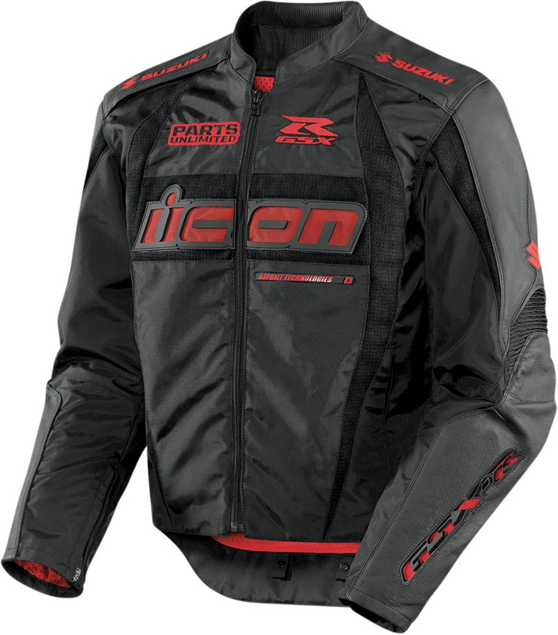Icon Arc Suzuki Textile Jacket - Black