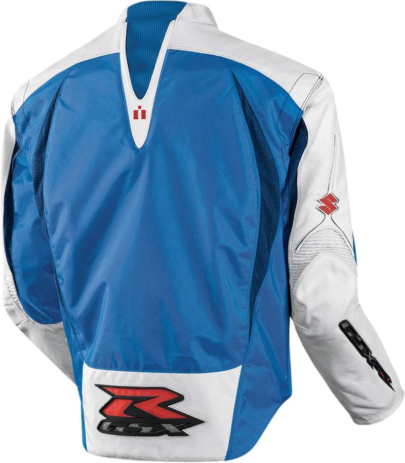 Icon Arc Suzuki Textile Motorcycle Jacket Blue