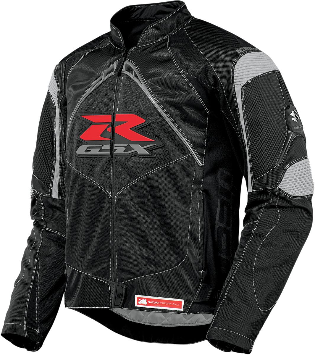 Icon Contra Gsxr Mens Textile Jacket Black