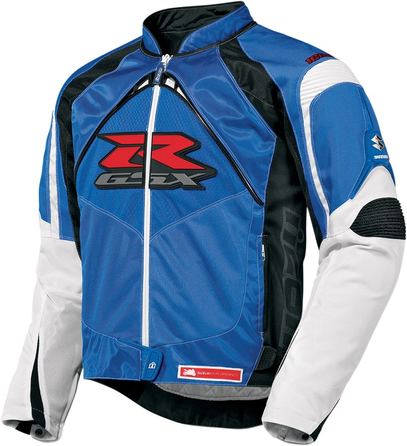 Icon Contra 2 Mens Textile Jacket Blue