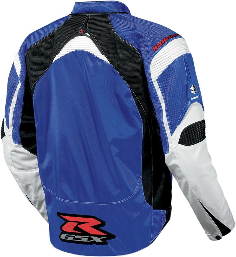 Icon Contra Gsxr Mens Textile Jacket Blue