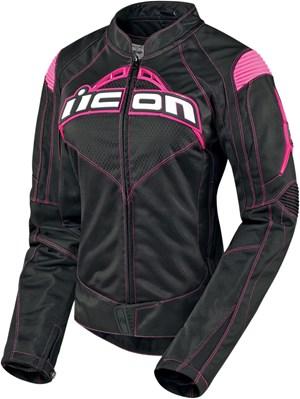 Icon Contra Ladies Textile Jacket - Black / Pink