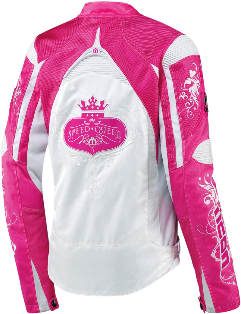 Icon Contra Speed Queen Ladies Textile Motorcycle Jacket - Pink