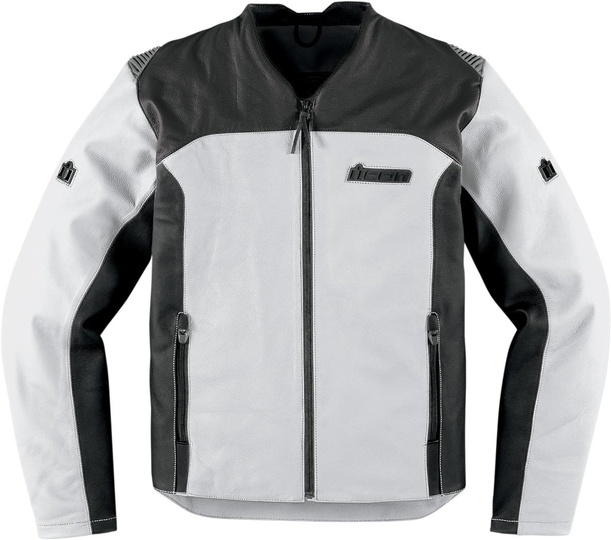 Icon Device Leather Jacket - White