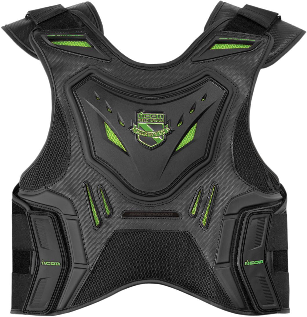 Icon Stryker Field Armor Motorcycle Vest Green
