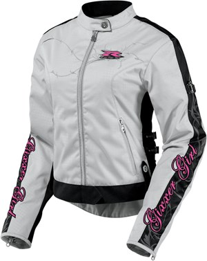 Icon Hella Gixxer Girl Womens Textile Jacket - Gray