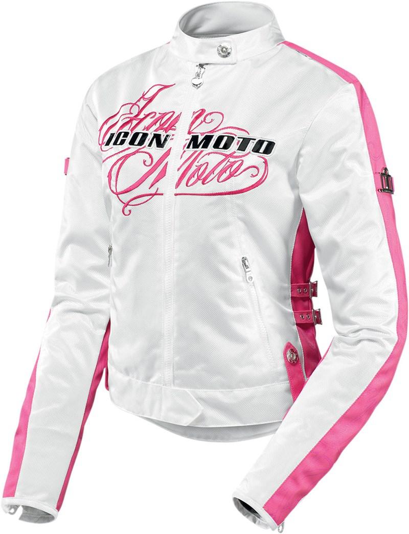 icon hella street angel women 39 s textile motorcycle jacket pink. Black Bedroom Furniture Sets. Home Design Ideas