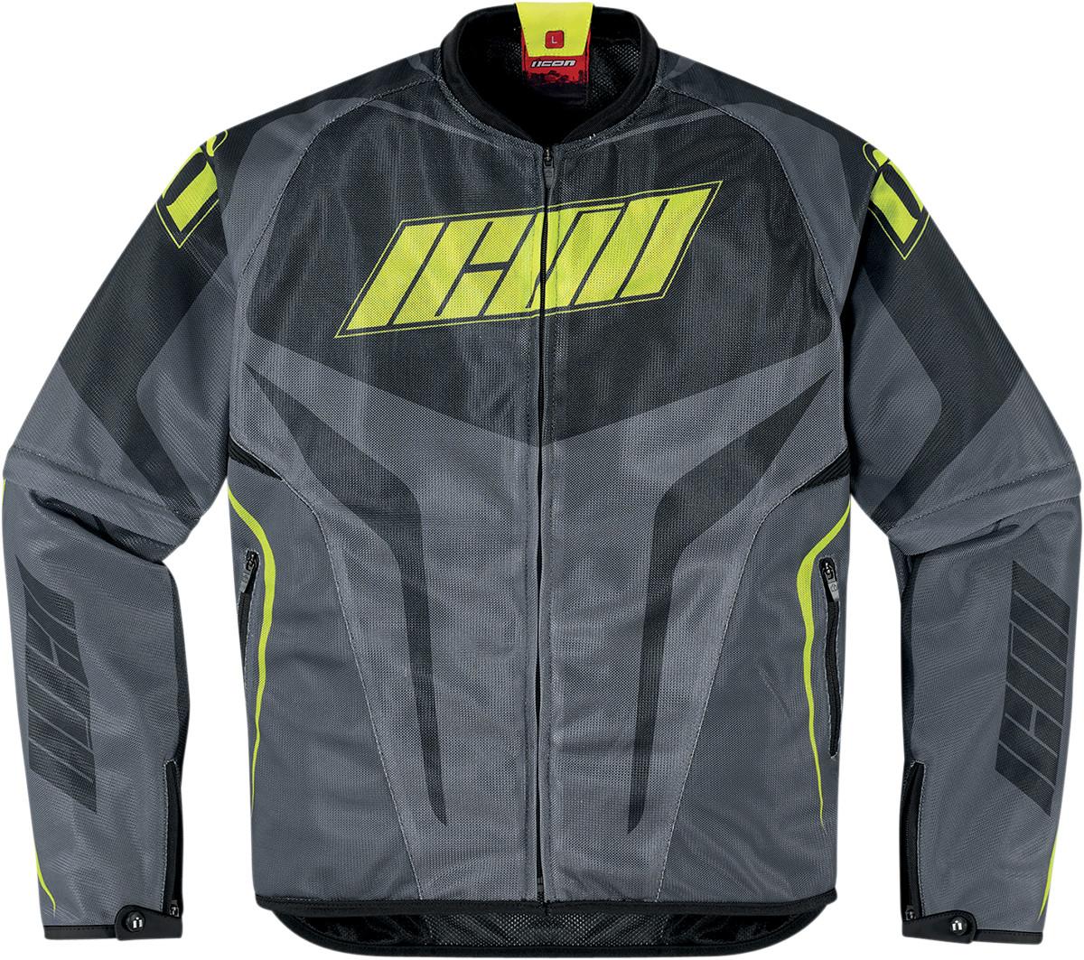 Icon Hooligan Street Jersey Mesh Motorcycle Jacket Green