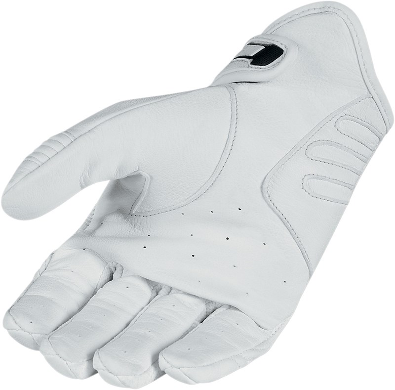 Icon Hooligan Textile Mesh Motorcycle Riding Gloves Black White