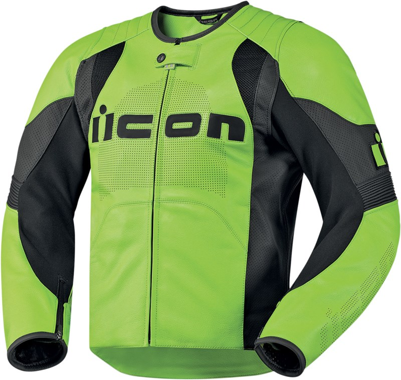 Icon Overlord Leather Jacket - Green