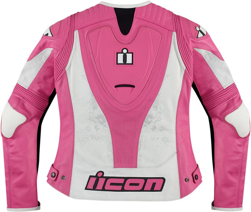 Womens Pink Leather Motorcycle Jackets - Jacket
