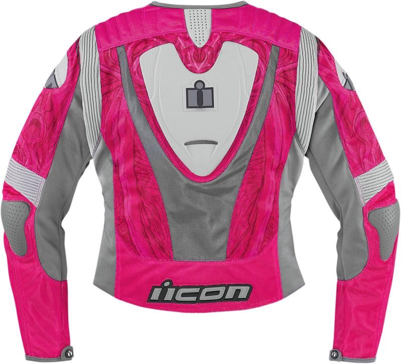 Icon Overlord Sportbike SB1 Women&39s Mesh Motorcycle Jacket - Pink