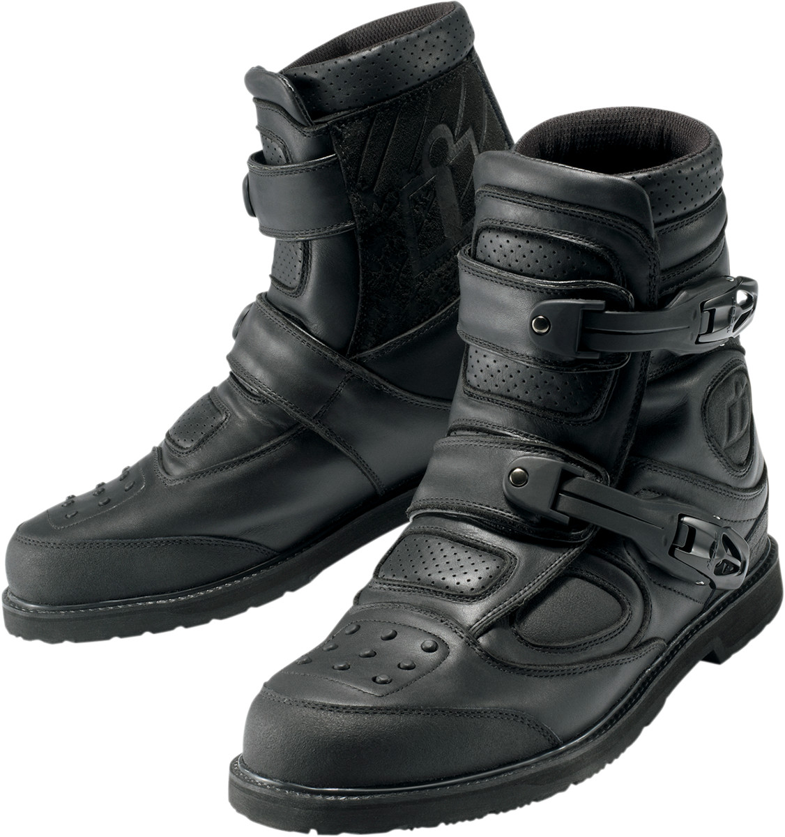 Icon Patrol Waterproof Motorcycle Riding Boots Black