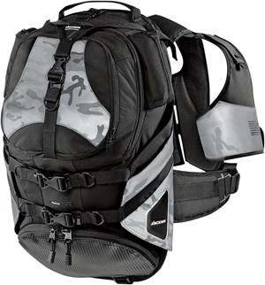 Icon Squad II Motorcycle Riding Backpack - Black