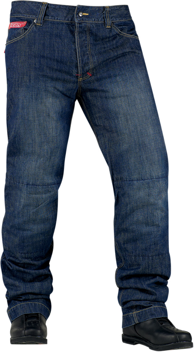 Icon Strongarm 2 Denim Motorcycle Riding Pants