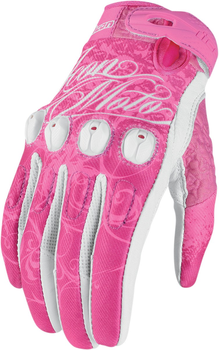Motorcycle gloves pink -