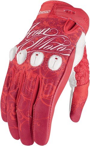 Icon Sub Street Angel Textile Gloves - Red
