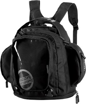 Icon Urban Motorcycle Tank Bag / Backpack - Black