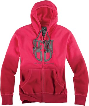 Icon Women's Geared Hoody - Red