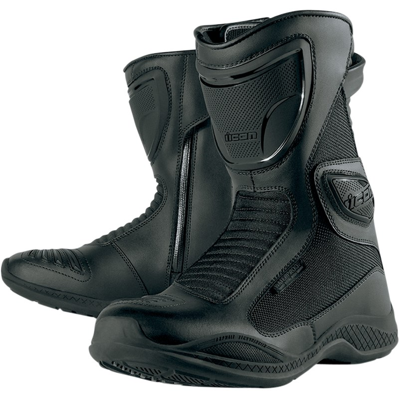 Icon Reign Women's Waterproof Motorcycle Boot - Black