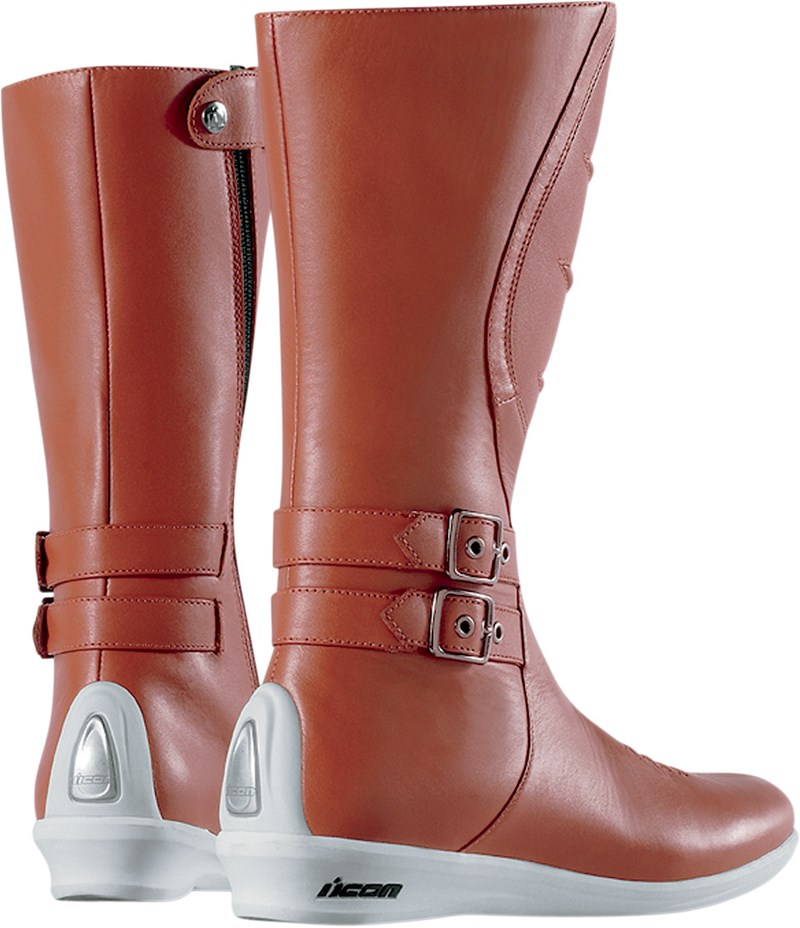 Icon Women's Sacred Tall Motorcycle Boot - Brown