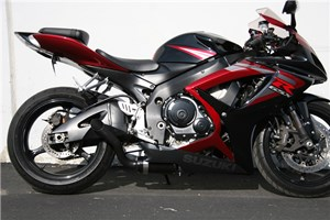 Jardine GP1 Black Slip-On Exhaust System - Suzuki GSX-R750 (06-07)