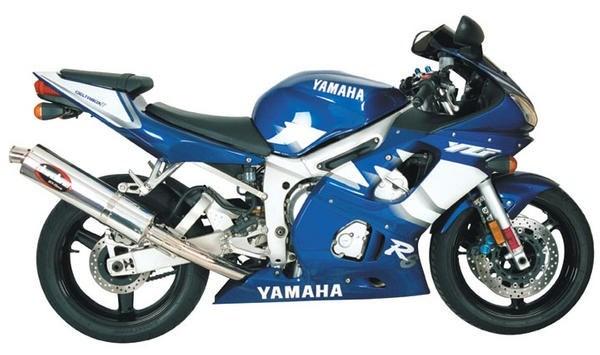 Jardine rt 1 slip on exhaust system yamaha yzf r6 99 02 for 02 yamaha r6