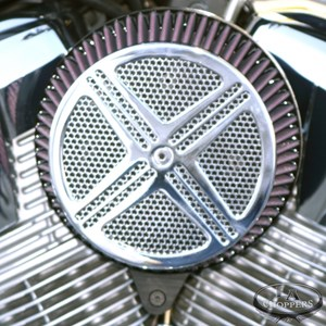 LA Choppers Chrome XXX Big Air Kit - Suzuki Boulevard M109R (06-12)