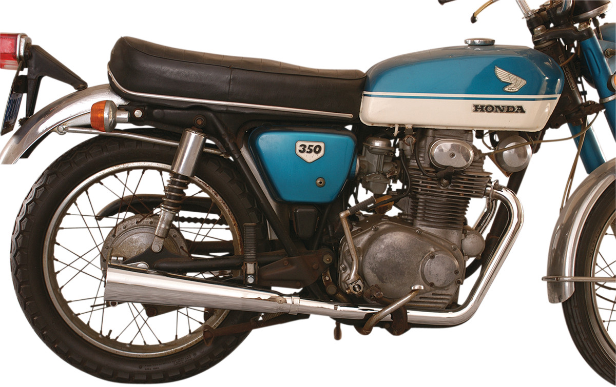 Mufflers For Sale >> Mac 2-into-2 Megaphone Full Exhaust System - Honda CB350 ...