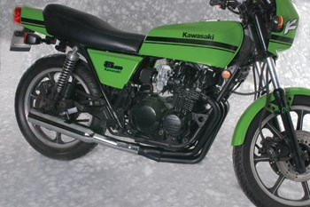 mac 4-into-1 exhaust system - kawasaki kz550 / gpz (80-85)