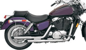 Mac Slashcut Staggered Exhaust System - Honda Shadow ACE 1100 (95-99)