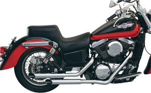Mac Slashcut Staggered Exhaust System - Kawasaki Vulcan 1500 Classic (96-03)