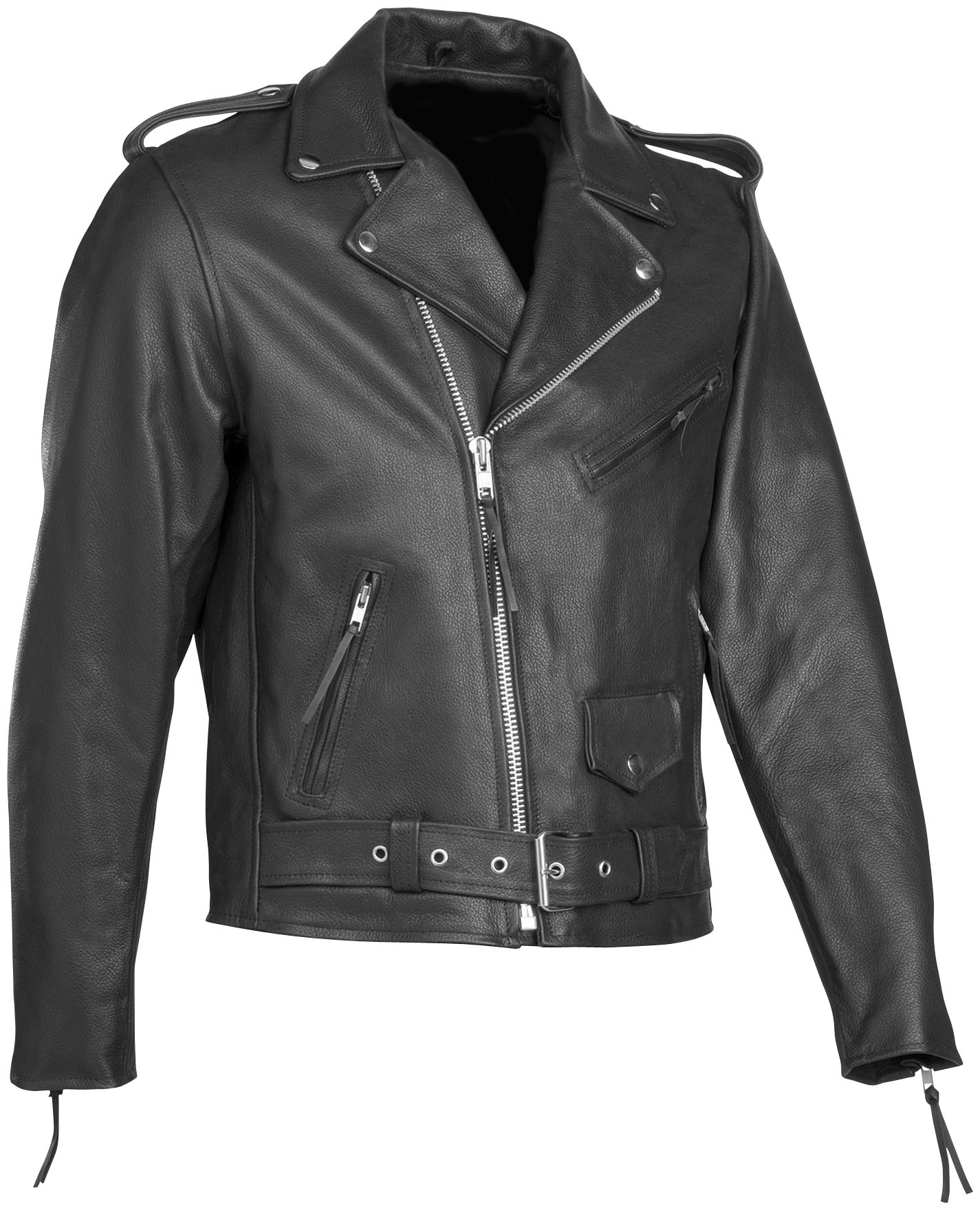 River Road Basic Leather Motorcycle Jacket