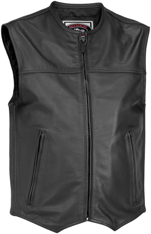 River Road Brute Classic Leather Motorcycle Vest
