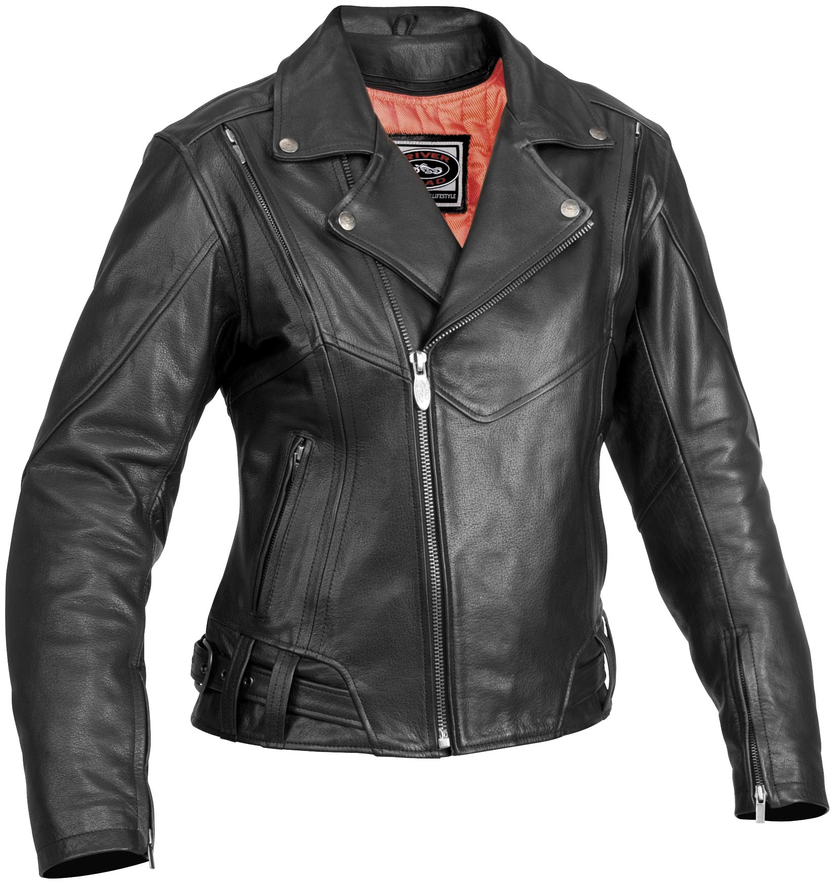 River Road Sapphire Womens Leather Motorcycle Jacket