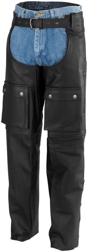 River Road Moto Leather Chaps