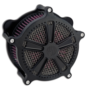 Roland Sands Design Judge Black Ops Venturi Air Cleaner  - Harley Davidson Sportster With CV Carb/ Delphi EFI  (91-12)
