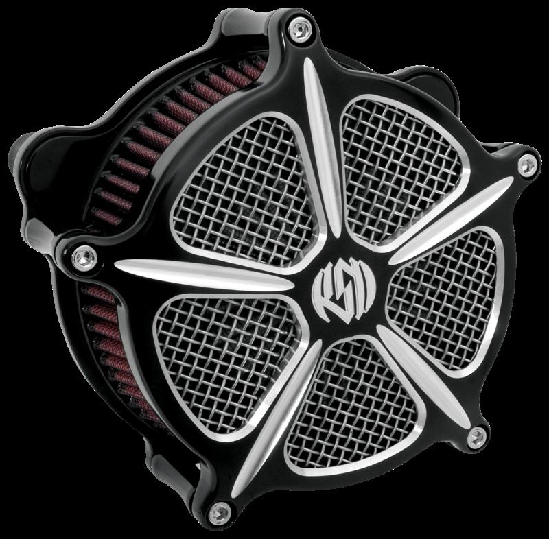 Roland Sands Design Speed 5 Contrast Cut Venturi Air Cleaner - Harley  Davidson Sportster With CV Carb/ Delphi EFI (91-12)